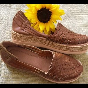 Mexican Leather Huaraches platforms Mexican shoes